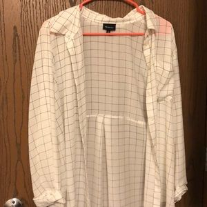 Bottom down white check who what wear size large